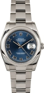 Rolex Datejust 116200 Blue Roman