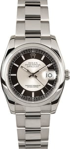 Rolex Datejust 116200 Silver and Black Dial