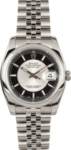 Rolex Datejust 116200 Silver and Black Tuxedo Dial