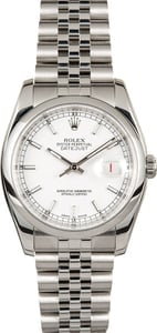 Rolex Datejust 116200 White Dial Jubilee