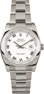 Rolex Datejust 116200 White Roman