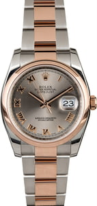 Rolex Datejust 116201 Two Tone Everose Gold Oyster