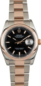 PreOwned Rolex Datejust 116201 Rose Gold Oyster