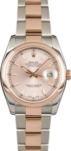 Rolex Datejust 116201 Pink Luminous Index Dial