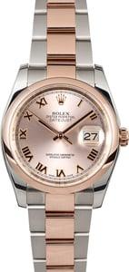 Rolex Datejust 116201 Rose Gold Oyster