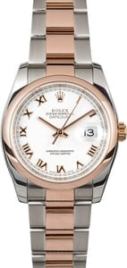 Rolex Datejust 116201 Two Tone Everose Gold