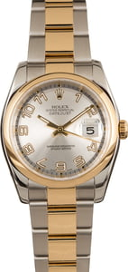 Rolex Datejust 116203 Silver Concentric Dial