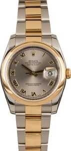Rolex Two Tone Datejust 116203 Roman Dial