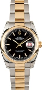Rolex Datejust 116203 Black Index Dial