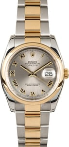 Used Rolex Datejust 116203 Slate Roman Dial