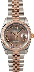 Everose Rolex Datejust 116231 Black MOP Dial