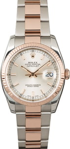 Rolex Datejust 116231 Silver Dial Two Tone Everose