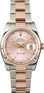 Rolex Datejust 116231 Two Tone Everose Oyster Bracelet