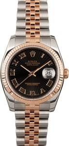 Rolex Datejust 116231 Black Sunburst Dial