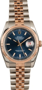 Used Rolex Datejust 116231 Blue Luminous Dial