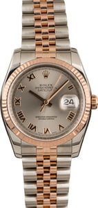 Pre Owned Rolex Datejust 116231 Steel Roman Dial
