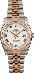 Pre-Owned Rolex Datejust 116231 Two Tone Everose Gold