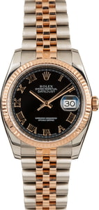 PreOwned Rolex Datejust 116231 Steel and Rose Gold