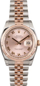 Pre Owned Rolex Datejust 116231 Rose Roman Dial