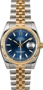 Rolex Datejust 116233 Blue Luminous Dial