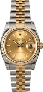 Certified Rolex Datejust 116233 Two Tone Jubilee