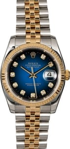 Rolex Datejust 16233 Blue Vignette Diamond Dial