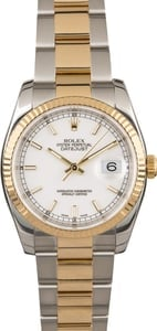 Rolex Datejust 116233 White Dial Two Tone Oyster