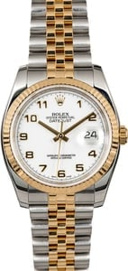 Rolex Datejust 116233 White Arabic Dial