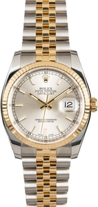Rolex Datejust 116233 Silver Dial Two Tone Jubilee