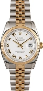Men's Rolex Datejust 116233 White Roman Dial
