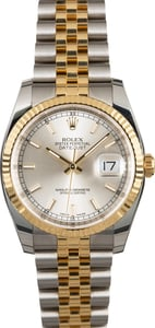 Silver Dial Rolex Datejust 116233 Two Tone Jubilee