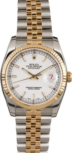 Rolex Datejust 116233 White Dial Two Tone Jubilee