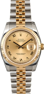 Used Rolex Datejust 116233 Champagne Roman Dial