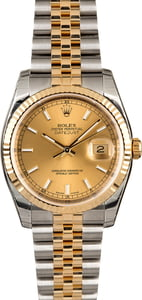 Rolex Datejust 116233 Champagne Two Tone Jubilee
