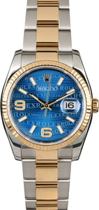 Rolex Datejust 116233 Blue Wave Dial with Diamond 6 & 9