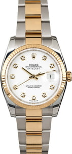 Rolex Datejust 116233 White Dial with Two Tone Oyster