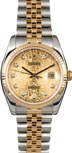 Rolex Datejust 116233 Champagne Jubilee Diamond Dial