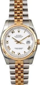 Unworn Rolex Datejust 116233 White Dial