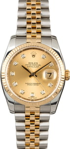 Used Rolex Datejust 116233 Champagne Diamond Dial