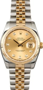 PreOwned Rolex Datejust 116233 Champagne Diamond Dial