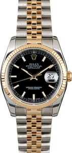 PreOwned Rolex Datejust 116233 Black Dial