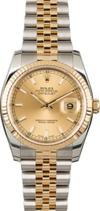 Used Rolex Datejust 116233 Champagne Index Dial