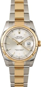Unworn Rolex Datejust 116233 Two Tone with Silver Dial