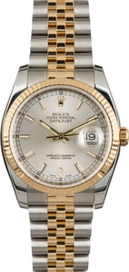 Pre Owned Rolex Datejust 116233 Silver Dial Men's Watch