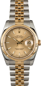Rolex Datejust 116233 Champagne Luminous Index Dial