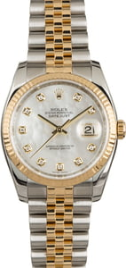 PreOwned Rolex Datejust 116233 MOP Diamond Dial