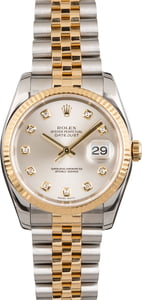 PreOwned Rolex Datejust 116233 Silver Diamond Dial