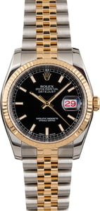 Pre Owned Rolex Datejust 116233 Black Index