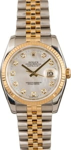 Used Rolex Datejust 116233 MOP Diamond Dial