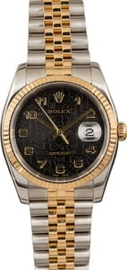Pre-Owned Rolex Datejust 116233 Black Jubilee Dial